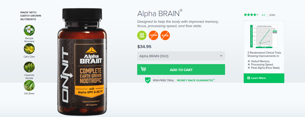 alpha brain reviews