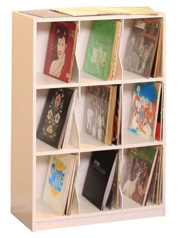 LP Record Multimedia Tabletop Storage
