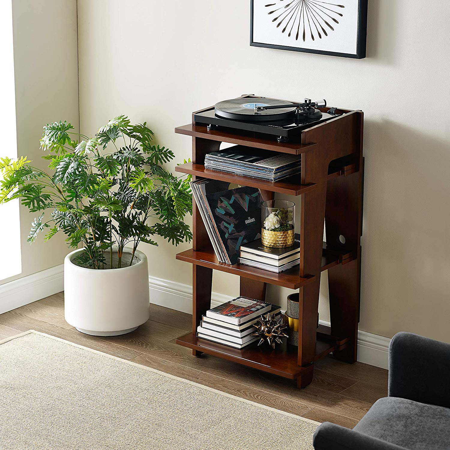 Crosley Soho Turntable and Record Stand